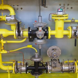 Gas valves, pipes and pumps